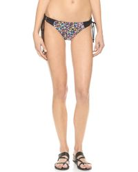 Shoshanna Electric Garden Lace Up Bottoms - Blackmulti - Lyst