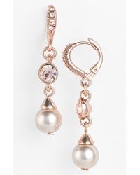 Givenchy Faux Pearl Drop Earrings - Lyst