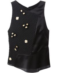 3.1 Phillip Lim Asymmetric Quilted Tank Top - Lyst
