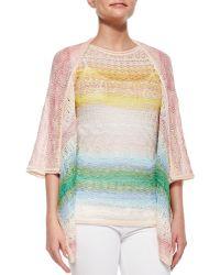 Missoni Ombre Striped Crochet Cardigan - Lyst