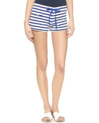 Solid & Striped Lounge Short - Royal Blue Cream Stripe - Lyst