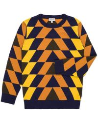 Paul Smith Junior Boys' Cotton-Cashmere Geometric 'Jacob' Sweater orange - Lyst