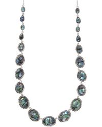 Judith Jack - Abalone Enchant Sterling Silver Graduated Necklace - Lyst