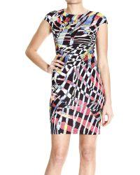 Just Cavalli Printed Stretch Cottonblend Dress red - Lyst