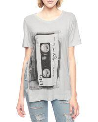 True Religion Cassette Long Relaxed Womens T-Shirt - Lyst