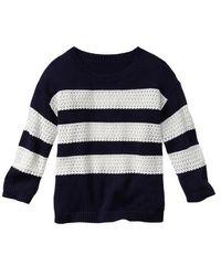 Gap Open-stitch Stripe Sweater - Lyst