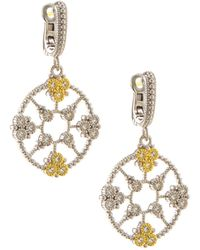 Judith Ripka - Sterling Silver & Sapphire Trellis Drop Earrings - Lyst