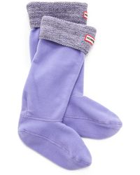 Hunter Mouline Boot Socks - Blackwhitebright Lilac - Lyst