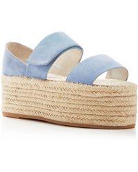 Jeffrey Campbell Caneel Espadrille Platform Sandals - Blue