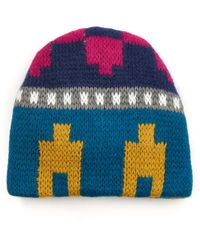 Tak.ori - Geometric Wool And Mohair-Blend Hat - Lyst