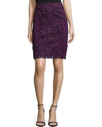 Natori - Lace Pencil Skirt - Lyst