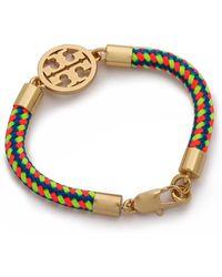 Tory Burch Logo Rope Bracelet - Multishiny Brass - Lyst