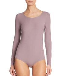 Wolford Pure Bodysuit pink - Lyst