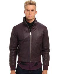 McQ by Alexander McQueen Leather Harrington Jacket - Lyst