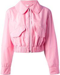 Carven Cropped Jacket - Pink