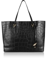 Diane Von Furstenberg Sutra Ready To Go Large Croc-effect Leather Tote - Lyst