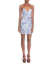 Missguided Print Strapless Body-con Dress - Lyst