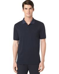 Calvin Klein Auto Stripe Blocked Interlock Polo - A Macys Exclusive - Lyst