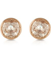 Michael Kors - Crystal Rose Gold-tone Stud Earrings - Lyst