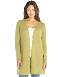 Autumn Cashmere Artichoke Green Cashmere Speckled Knit Open Duster Cardigan - Lyst