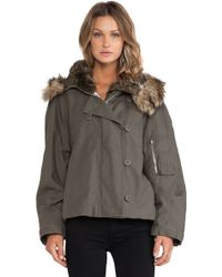 McQ by Alexander McQueen Cropped Parka - Lyst