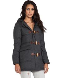 Penfield - Blue Label Keswick Down Insulated Long Duffle Coat in Gray - Lyst