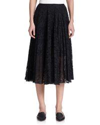 Theory Zeyn Pleated Lace Skirt - Lyst
