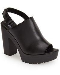 Steve Madden 'Teqila' Leather Platform Sandal - Lyst
