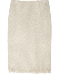 Lanvin Woolblend Bouclétweed Pencil Skirt - Lyst