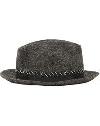 Miharayasuhiro - Adjustable Wool & Linen Hat W/ Stitching - Lyst