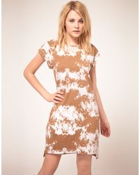 Antipodium Halftime Dress with Silk Trim - Brown