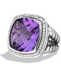 David Yurman Albion Ring With Amethyst & Diamonds - Metallic