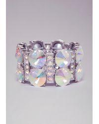 Bebe Crystal Stretch Bracelet - Metallic