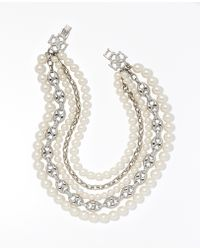 Ann Taylor Heirloom Pearl Statement Necklace - Lyst
