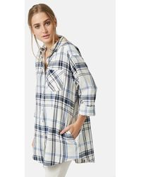 Topshop 'Ortise' Oversize Check Shirt - Lyst
