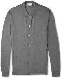 Acne Studios Clissold Fine-knit Merino Wool Polo Shirt - Lyst