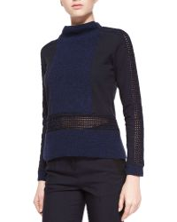 Risto - Long-sleeve Hybrid Knit Top - Lyst