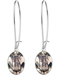 Swarovski Puzzle Greige Crystal Earrings silver - Lyst