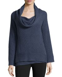 Donna Karan New York Off-the-shoulder Ribbed Cashmere Sweater - Lyst