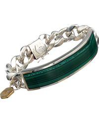 Ann Dexter-Jones Malachite & Sterling Silver Id Bracelet - Green