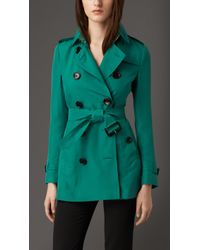 Burberry Modern Fit Silk Trench Coat - Lyst