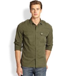Lacoste Green Cotton Sportshirt - Lyst