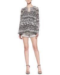Thakoon Addition Tweed Shorts With Braided Trim - Black
