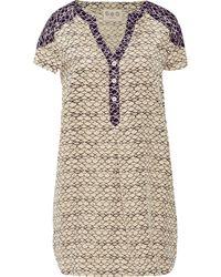 Sea Printed Stretch-silk Mini Dress - Lyst