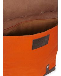 Enter # - Orange Canvas And Leather Backpack - Lyst