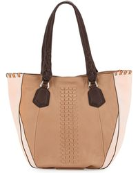 orYANY Lyssie Colorblock Whipstitched Tote Bag - Lyst