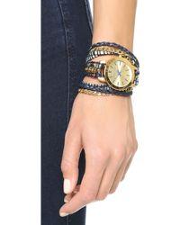 Sara Designs - Candy Wrap Watch - Blue/gold - Lyst