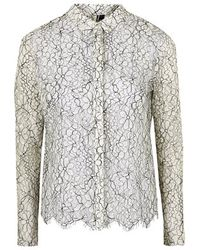 Topshop Scallop Lace Shirt - Lyst