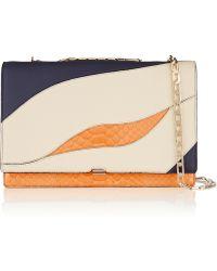 Victoria Beckham Leather And Python Shoulder Bag - Lyst