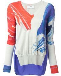 Prabal Gurung Marbled Print Sweater - Lyst